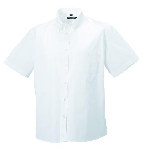 Z917M Russell CollectionKurzärmeliges Twill-Herrenhemd - bis Gr. 4XL L / 41/42,White - Seide Twill Shirt