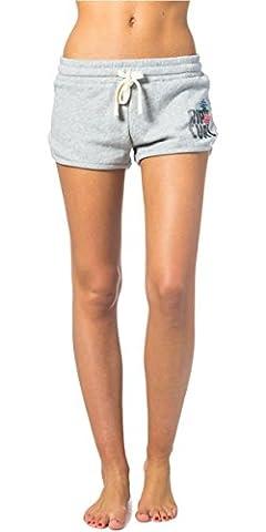 2017 Rip Curl Ladies Sun and Surf Fleece Walkshorts CEMENT MARLE GWAEA4 Sizes- - Small