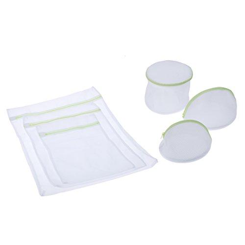 Andux Zone Casa lavanderia essenziale borsa di lavaggio della maglia set con cerniera (6 pezzi) - Multi set da viaggio scopo - 1 grande, 1 medio, 1 piccola, 3 borse reggiseno