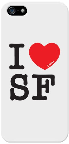 Cellet Proguard Fall mit I Love SAN Francisco für Apple iPhone 5 - Weiß