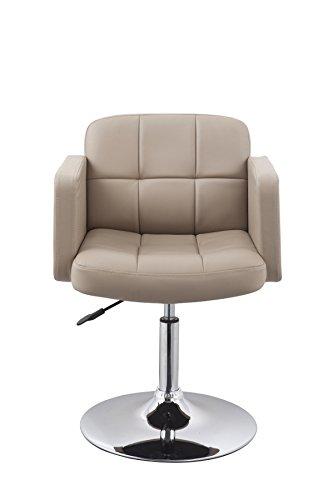 Clubsessel Sessel Kunstleder Cappuccino Esszimmerstuhl Lounge Sessel höhenverstellbar drehbar Duhome 0496