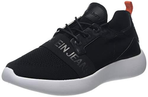 Calvin Klein Jeans Herren Mel Knit CKJ Logo Sneaker, Schwarz (Black 000), 42 EU