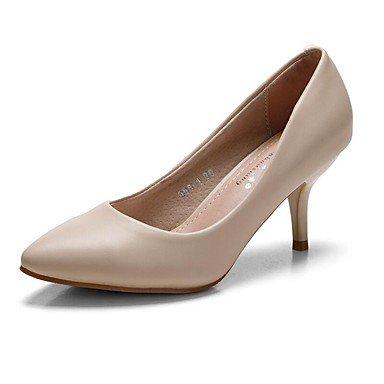 Talloni delle donne Primavera Estate Autunno Inverno Dress Club Scarpe Comfort PU ufficio & carriera Stiletto Heel Casual OthersBlack Blu Rosa Bianco Grigio Black