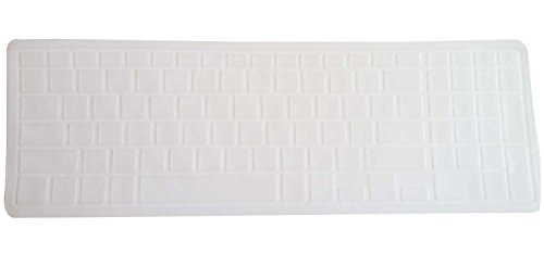 Saco Keyboard Protector Silicone Skin Cover for Dell Inspiron 5558 Y566002IN9 15.6-inch Laptop - Transparent  available at amazon for Rs.300