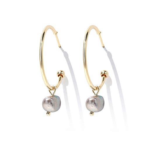 AILOVEIA Natürliche Süßwasser Perle Ohrringe Frauen Einfache Online Promi Ohrring Modeschmuck Ohrringe Zubehör