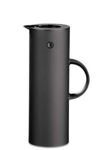 Stelton Isolierkanne, soft schwarz - 5 Kaffee Karaffe Tasse