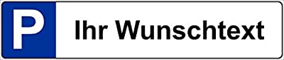 Schild Wunschtext Kfz Kennzeichen Nummernschild Wunschtext Parkplatzschild Parkschild – S19A