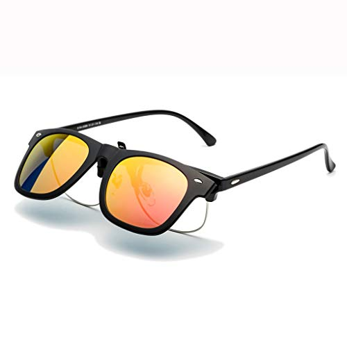 LQ Herrenbrille Versace Sonnenbrillen Clip Sonnenbrillen, UV-Schutz Sonnenbrillen, Herren Multi-Color optional beschichtete Gläser (Farbe : C)