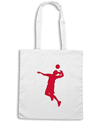 T-Shirtshock - Borsa Shopping SP0141 Volleyball Girl Maglietta Bianco