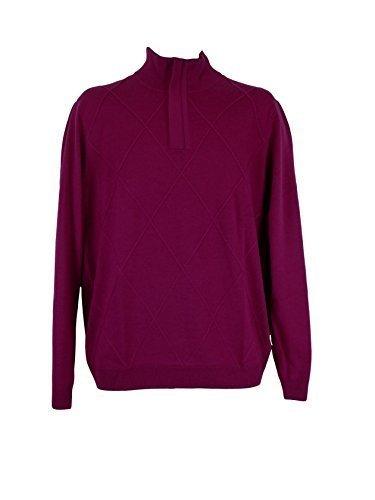 aquascutum-zip-neck-argyle-wool-golf-jumper-mens-plum-medium
