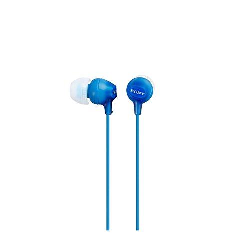Sony MDR-EX15LP Cuffie Auricolari, 100 dB, 16 Ω, CCAW, Cavo 1.2 m, Azzuro
