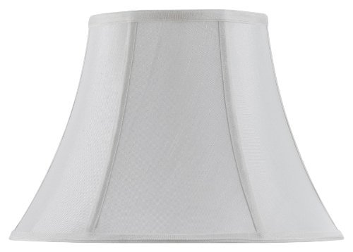 Cal Lighting SH-8104/18-WH Vertical Piped Scallop Bell Shade with 18-Inch Bottom, White by Cal