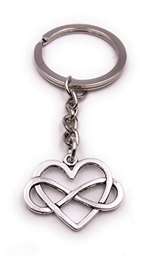 Paar Symbol Unendlichkeit Zeichen hohl Silber Schlüsselanhänger Anhänger ()