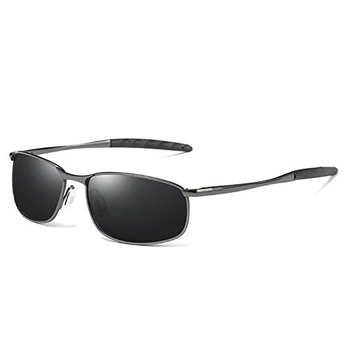 Xyydn Polarisierten Sonnenbrillen Männer Designer-Spiegel-Gläser Brillen Zubehör Driving Männer Sonnenbrille polarisierte Brillen Sportbrillen Angeln Golf Brille (Lenses Color : Gray Black) -