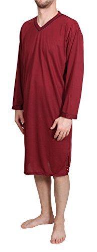 Homme Chemise de nuit longue unicolore pyjamas CHEMISE DE NUIT LINGERIE DE NUIT COTON TAILLE: L XL XXL XXXL Classics