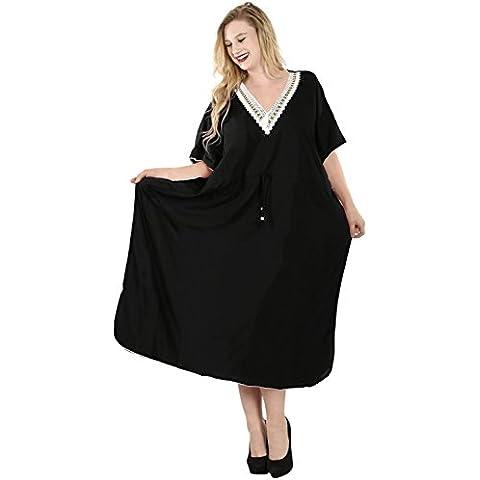 La Leela todo 1 damas rayón fiesta cóctel de baile de la túnica más tamaño cubrir la parte superior batas traje de baño lazo cuello kimono profunda maxi larga noche de mujeres vestido