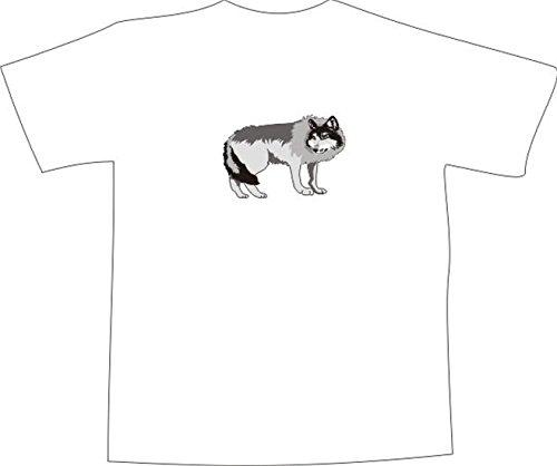 T-Shirt E833 Schönes T-Shirt mit farbigem Brustaufdruck - Logo / Grafik - Comic Design - majestätischer Wolf im Wald Schwarz