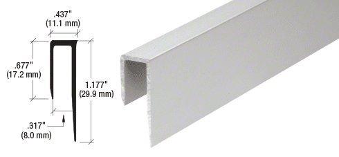 """Sperrliste Satin eloxiertem Aluminium-Deep Nase 5/40,6cm""""J Channel–12ft Lange"""