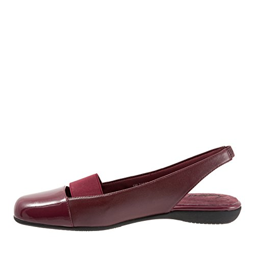 Trotters Sarina Large Cuir Talons Dark Red