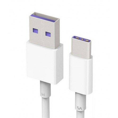 Cavo dati Super Charge Protocol con connessione USB Type-C bianca