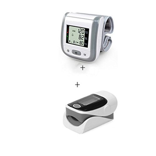 Digitales Medizinisches Pulsoximeter Spo2 Handgelenk Blutdruckmessgerät,Gray