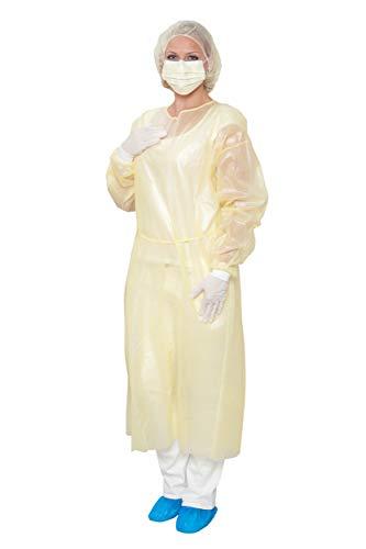 10 Stück MRSA Infektionsschutzset - EN 14126 - unsteril - Infektionsschutz - einzeln verpackt - Besucherset - gelb -