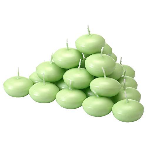MBI Vela Flotante sin Perfume, Verde, Altura: 2 cm, diámetro: 4 cm,...