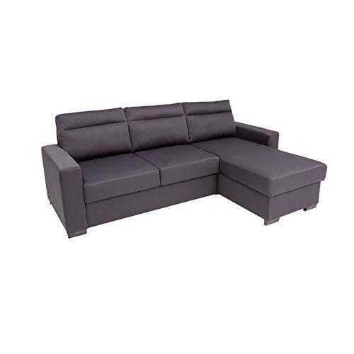 Divano letto edimburgo a 3 posti con chaise longue reversibile da 154 cm, 230cm x 87cm x 88cm (02/16)