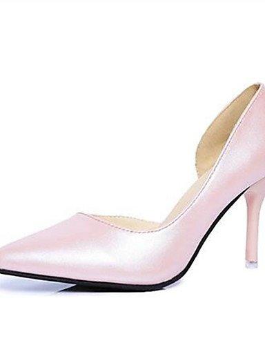 WSS 2016 Chaussures Femme-Bureau & Travail / Habillé-Noir / Beige-Talon Aiguille-Talons-Talons-Similicuir beige-us8.5 / eu39 / uk6.5 / cn40
