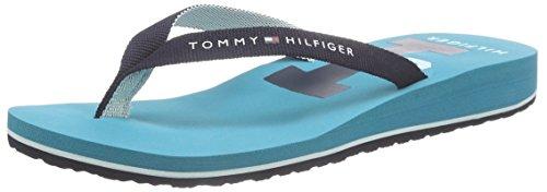 Tommy HilfigerINT-M1285ONIK 13D - Scarpe da Spiaggia e Piscina Donna , Multicolore (Mehrfarbig (MIDNIGHT/LAKE BLUE 497)), 42 eu