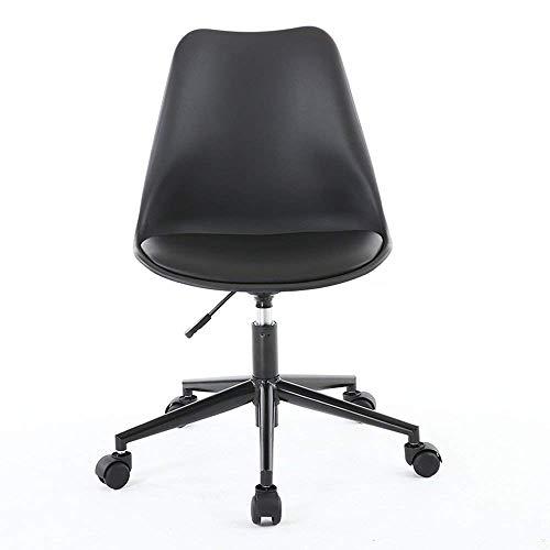 XQY Stuhl-Nordic Computer Stuhl Kleine Bürostuhl Kleine Moderne Stuhl Einfache Student Chair Home Convenient,Schwarz (Computer Stuhl Kleine)