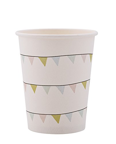 White Paper Cups (Paper Cup, White, Paper Ø8xH9,5 cm, Pack of 8)