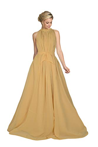 Belomoda Premium Georgette Fabric Sleeveless Solid Casual Partywear Stitched Long Gown For Women