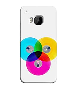 PrintVisa Designer Back Case Cover for HTC One M9 :: HTC One M9S :: HTC M9 (magical mixture of yellow pink blue red green)