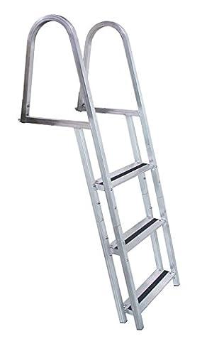 Dock Edge Dock-Leitermit 3 Stufen –Metallic