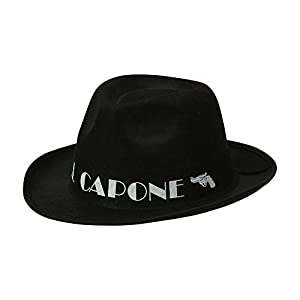 WIDMANN 01884 Al Capone Sombrero de Fieltro Unisex - Adulto, Negro, Talla Única