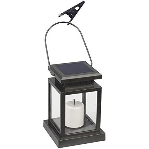 Ranex Lowa - Luz de jardín solar LED, plástico, color negro