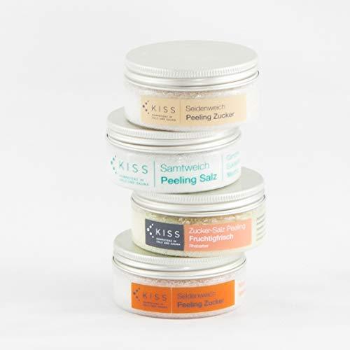 Sauna-Salz-Zucker Probier-Geschenk-Set 360g Dusch- und Körperpeeling Body Scrub mit pflegenden Mineralstoffen für alle Hauttypen -