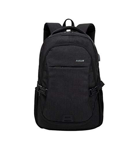 HF morning 15 Zoll Notebookrucksack Herren Schultasche Arbeit Rucksack Wasserdicht Business Laptop Backpack Mit USB