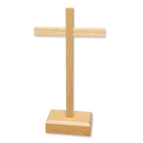 kruzifix24 Devotionalien stehkreuz Stand Altar Cruz Cruz Madera Barra Recta 27x 14,5cm...