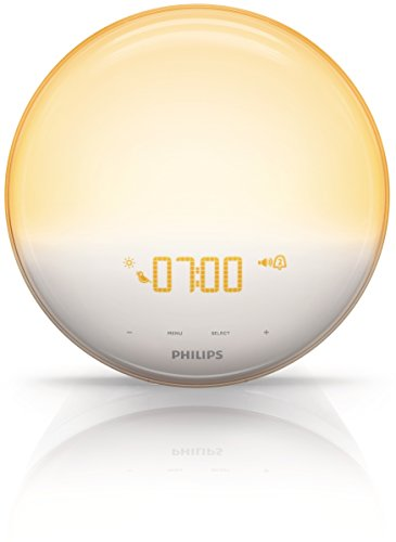 Lichtwecker: Philips HF3520/01 Wake-Up Light (Sonnenaufgangfunktion, digitales FM Radio, Tageslichtwecker) weiß