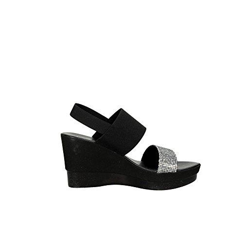 Cinzia Soft IBC17 003 Sandale Femme Noir/Argent