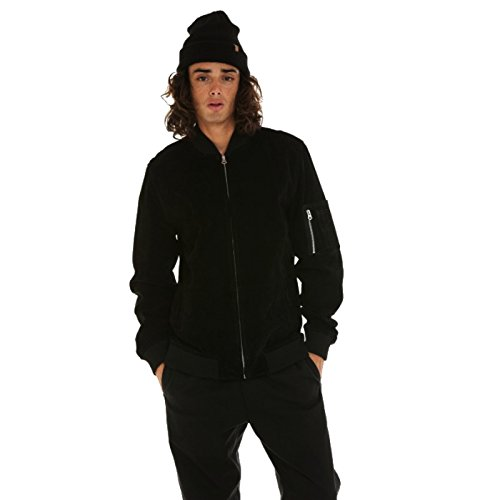 Obey Pilot Suede Jacket Black