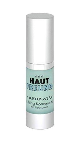 NEU: MEISTERWERK Lifting Konzentrat mit Liposomen von HAUTFREUND, 15 ml | speziell für die Augen | Anti Falten Creme mit Soforteffekt
