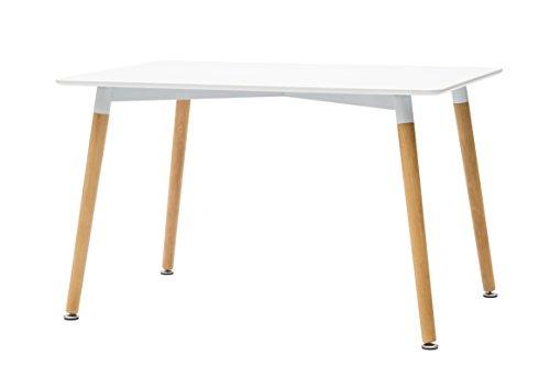 White loft, tavolo rettangolare, legno, bianco, 120 x 80 x 74 cm