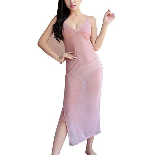 Sexy Dessous Langer Rock weiblich Offener Rücken Sling Perspektive Midnight Charm Adult Products Tingting (Farbe : Pink, größe : One Size) (Sexy Teenage Girl Kostüm)