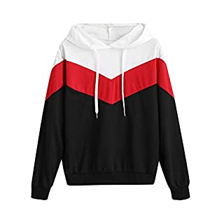feiXIANG Damen Pullover Herbst Elegante Daily Sweatshirt Shirt Mode Frauen Splice Hoodie Tops