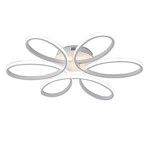 65 W LED lampada da soffitto, Luminosità Regolabile Telecomando Lampada moderna minimalista lampada da tavolo acrilico lampada a sospensione per soggiorno camera da letto 3000-6000 K, Ø58 cm (bianco)