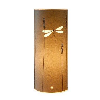 Lampadaire 1Libellule lumière Motif parchemin Abat-jour 220V