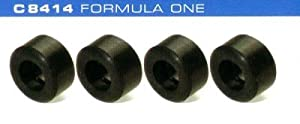 Scalextric 500008414 - De 4 Piezas de Silicona F1 neumáticos, Rennbahnhzubehör Importado de Alemania